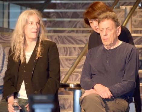 ピアノリサイタル『THE COMPLETE ETUDES』記者会見に出席した(左から)パティ・スミス、フィリップ・グラス (C)ORICON NewS inc.
