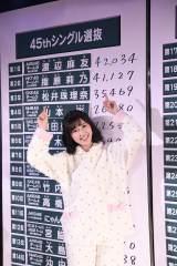 『第8回AKB48選抜総選挙』速報で暫定首位に立った渡辺麻友(C)AKS