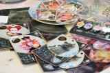 映画『アリス・イン・ワンダーランド/時間の旅』衣装の展示会(6月15〜28日まで)外のグッズ販売の様子(C)2016 Disney (C)oricon ME inc.