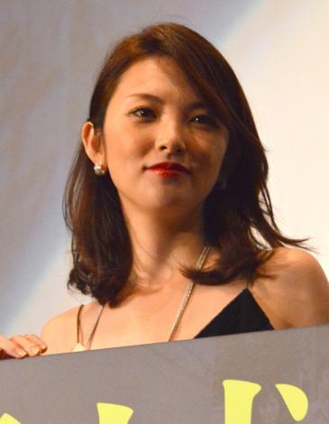 映画『葛城事件』初日舞台あいさつに出席した田中麗奈 (C)ORICON NewS inc.