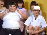 (前列左から)響・長友光弘、アンタッチャブル・柴田英嗣=WEB限定番組『爽快!!柴田屋です!』 (C)ORICON NewS inc.