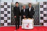 『追捕 MANHUNT(原題)』のイベントに出席した(左から)福山雅治、ジョン・ウー監督、チャン・ハンユー
