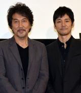 役所広司(左)へ羨望の眼差しを向けた西島秀俊 (C)ORICON NewS inc.