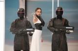 石田ニコルが演じるのは、上層階の支配者・ジル役 (C)2016「CUTIE HONEY-TEARS-」製作委員会