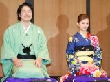 映画『の・ようなもの のようなもの』(来年1月16日公開)プレミアイベントに出席した(左から)松山ケンイチ、北川景子 (C)ORICON NewS inc.