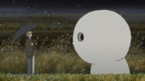 夏目は小さな雪だるまのような妖と出会う(C)緑川ゆき・白泉社/「夏目友人帳」製作委員会