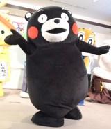 DVD付CD『みんないっしょに!ご当地キャラクターたいそう』完成発表会に登場したくまモン (C)ORICON NewS inc.