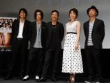 (左から)平沼紀久、早乙女太一、EXILE MATSU、島袋寛子、上條大輔監督(C)ORICON NewS inc.