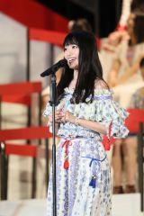 『第8回AKB48選抜総選挙』12位で選抜入りしたNGT48・北原里英 (C)AKS