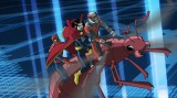テレビ東京系で放送中のアニメ『アルティメット・スパイダーマンVS シニスター・シックス』第13話(6月28日)でドクター・ストレンジとアントマン、そしてスパイダーマンが共演(C)Disney
