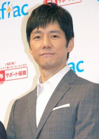 『アフラック新商品発表会』に出席した西島秀俊 (C)ORICON NewS inc.