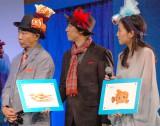 映画『ファインディング・ドリー』監督来日記者会見イベントに出席した(左から)木梨憲武、上川隆也、中村アン (C)ORICON NewS inc.