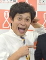 文化放送『大竹まこと ゴールデンラジオ!』生出演後の囲み取材に出席した流れ星・ちゅうえい (C)ORICON NewS inc.