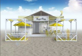 ナナナな海の家が由比ガ浜にオープン。情報番組『美マッスルon the Beach−いい女をつくる夏・2016−』の収録も実施(C)テレビ東京