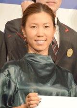 簡易生命保険誕生100周年キックオフイベントに登壇した上田桃子 (C)ORICON NewS inc.