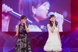共にNMB48を牽引してきた山本彩(左)と「今ならば」を披露した渡辺美優紀=コンサート『最後までわるきーでゴメンなさい』(C)NMB48