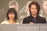 映画『KINGSGLAIVE FINAL FANTASY XV』オープニングイベントに出席した(左から)忽那汐里、綾野剛 (C)ORICON NewS inc.
