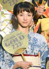 映画『ONE PIECE FILM GOLD』完成披露イベントに浴衣姿で登壇した満島ひかり (C)ORICON NewS inc.