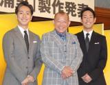 (左から)中村七之助、笑福亭鶴瓶、中村勘九郎 (C)ORICON NewS inc.