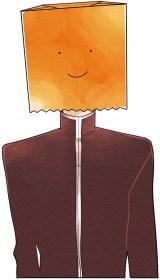 なぜか紙袋をかぶって生活しているクラス委員長・松原くん(C)どーるる/comico/「こえ恋」製作委員会