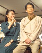 (左から)高畑充希、唐沢寿明=連続テレビ小説『とと姉ちゃん』スタジオ取材会