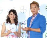 『エレビット』日本新発売PRイベントに出席した(左から)乙葉、金子貴俊 (C)ORICON NewS inc.