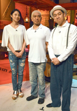 (左から)小池栄子、松本人志、設楽統=TBS系『クレイジージャーニーSP』囲み取材 (C)ORICON NewS inc.