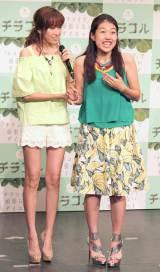 ダイエットサプリ『チラコル』PRイベントに出席した(左から)仁香、横澤夏子 (C)ORICON NewS inc.