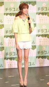 ダイエットサプリ『チラコル』PRイベントに出席した仁香 (C)ORICON NewS inc.