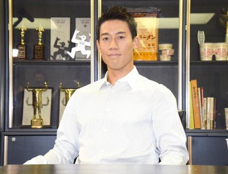 """日清食品株式会社の""""緊急一日社長""""に就任した錦織圭 (C)ORICON NewS inc."""