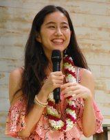『Hawai'i EXPO 2016』トークショーに出席した大見謝葉月 (C)ORICON NewS inc.