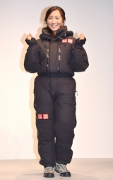 登頂時の服装を披露する南谷 (C)ORICON NewS inc.