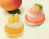 銀座コージーコーナーのポット型カップがキュートなマンゴー&桃スイーツ
