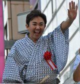 『第33回うえの夏まつりパレード』にゲスト参加した林家三平 (C)ORICON NewS inc.