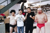 (左から)ハリウッドザコシショウ、原作のゆでたまご・嶋田氏、緊縛師・一鬼のこ氏、ケンドー・コバヤシ(C)関純一/週刊プレイボーイ
