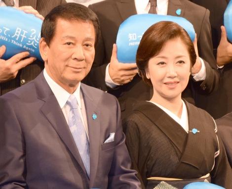『知って、肝炎プロジェクトミーティング2016』に出席した杉良太郎&伍代夏子夫妻 (C)ORICON NewS inc.
