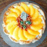 ひまわりの花のように色鮮やかな『たっぷりオレンジのチーズタルト』(C)oricon ME inc.