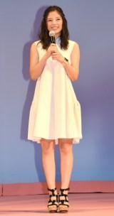 映画『四月は君の嘘』完成披露舞台あいさつに出席した石井杏奈(E-girls) (C)ORICON NewS inc.