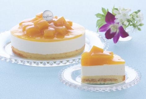 銀座コージーコーナーのネット通販限定『爽やかマンゴーレアチーズ』