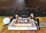 20周年をお祝いした豪華特大ケーキがサプライズで登場