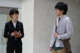 ドラマ『ON 異常犯罪捜査官・藤堂比奈子』第5話(左から)波瑠、林遣都(C)関西テレビ