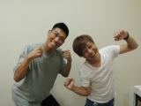(左から)レイザーラモンHG、土肥ポン太。劇団☆感情線の第2回公演『蝉と入道雲』は8月19日上演