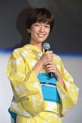 映画『ペット』初日舞台あいさつに登壇した佐藤栞里 (C)ORICON NewS inc.