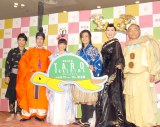 出演者(左から)崎本大海、和泉元彌、上原多香子、木村了、とよた真帆、斉藤暁 (C)ORICON NewS inc.