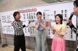 「AKB48グループじゃんけん大会」の組み合わせ抽選を行った柏木由紀(中央)と渡辺麻友(右)(C)AKS
