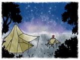 8月12日から13日の明け方にかけて「ペルセウス座流星群」が見ごろ (イラスト/Mog)(C)oricon ME inc.