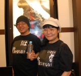 自作のTシャツで来場。観た人ならわかるペットボトルも持参=映画『シン・ゴジラ』発声可能上映 (C)ORICON NewS inc.
