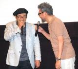 映画『シン・ゴジラ』発声可能上映に登場した(左から)島本和彦氏、庵野秀明氏 (C)ORICON NewS inc.