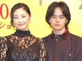 映画『だれかの木琴』完成披露プレミア試写会に出席した(左から)常盤貴子、池松壮亮 (C)ORICON NewS inc.