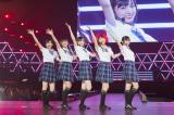 『NMB48 リクエストアワー』1位は「虹の作り方」(写真左から)須藤凜々花、薮下柊、太田夢利、渋谷凪咲、内木志(C)NMB48